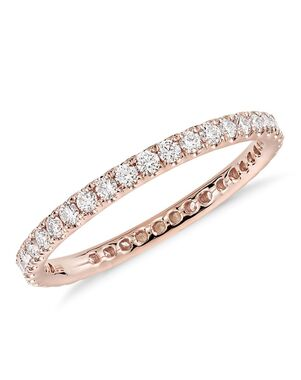Blue Nile 58220 Rose Gold Wedding Ring