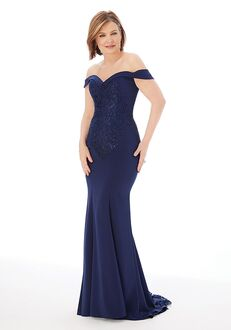 MGNY 72207 Gray,Blue Mother Of The Bride Dress
