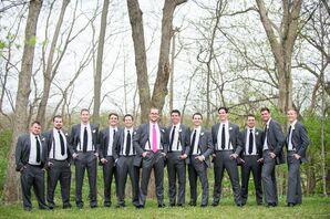 Gray Groomsmen Suits With Black Ties