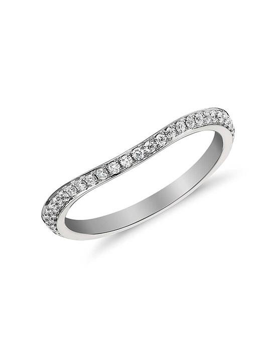 Monique Lhuillier Fine Jewelry Curved Pavé Diamond Ring (1/8 ct. tw.) Wedding Ring photo