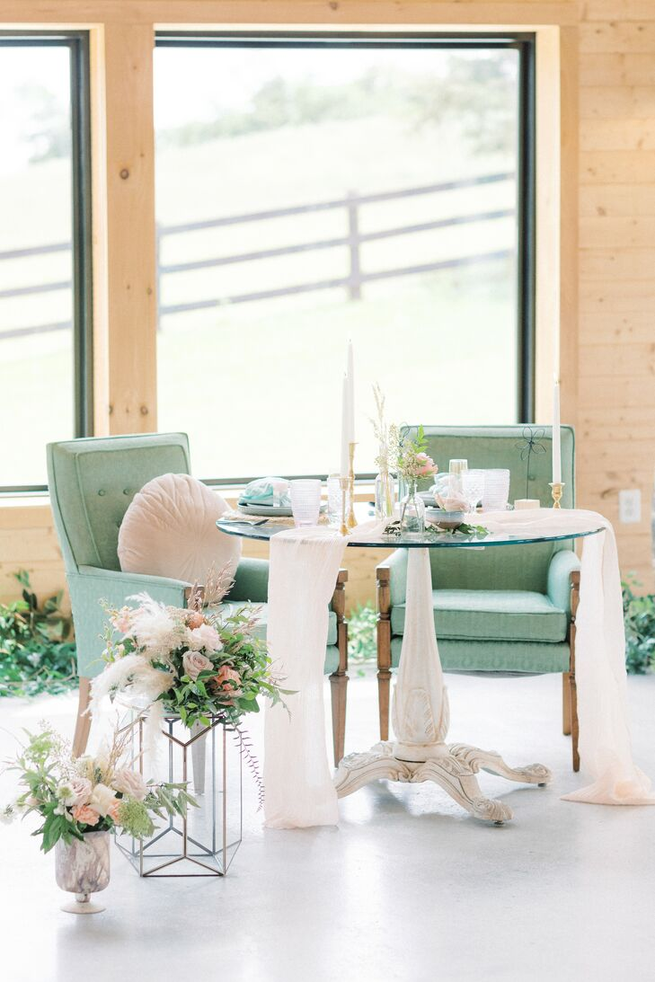 Sweetheart Table for Microwedding at The Barn at Willow Brook in Leesburg, Virginia