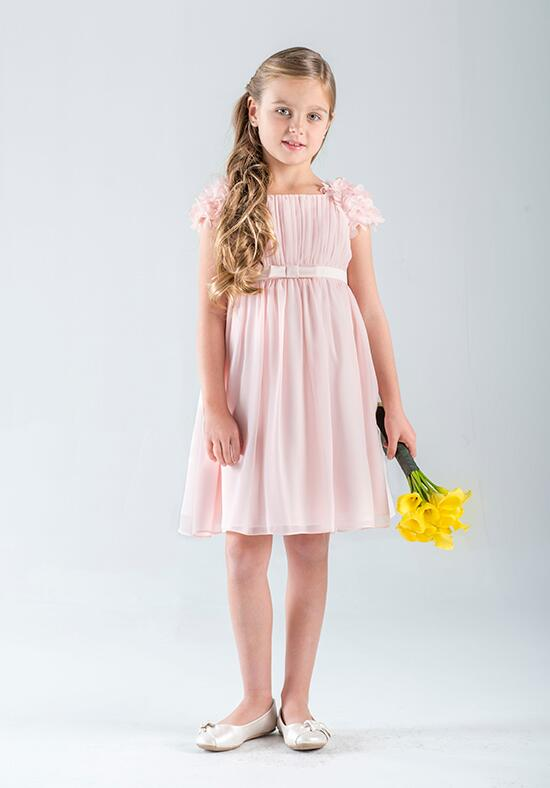 Us Angels Beautiful Color Victoria Chiffon Dress-670_Pink Flower Girl Dress photo