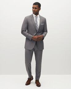 Suit Shop Men's Textured Gray Suit Gray Tuxedo
