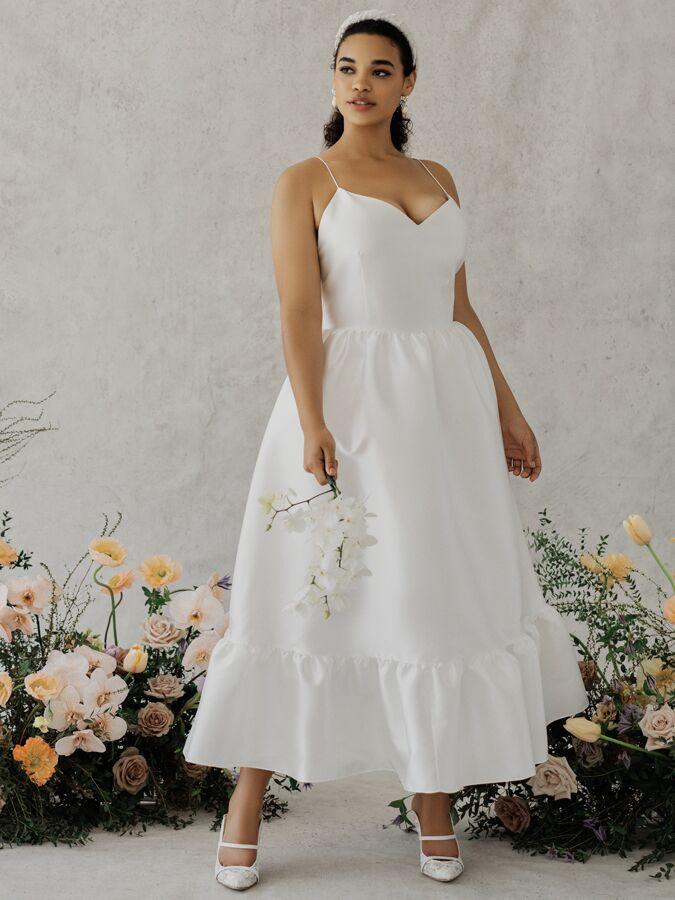 Alexandra Grecco Poppy sleeveless tea-length dress