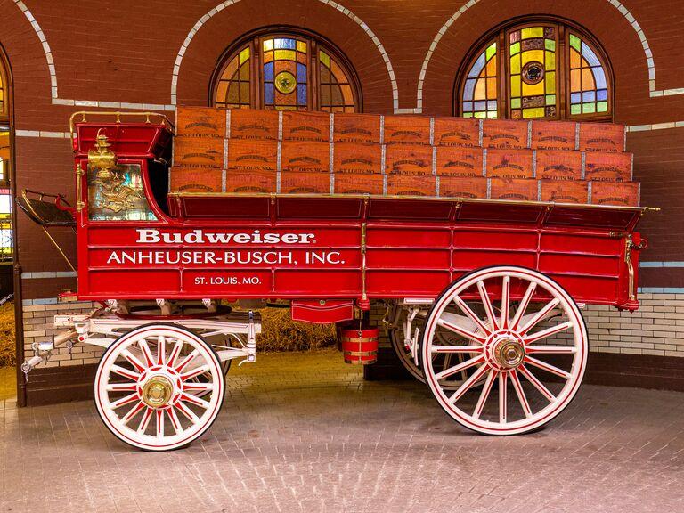 Budweiser beer vintage cart