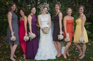 Colorful Fall Bridesmaid Dresses