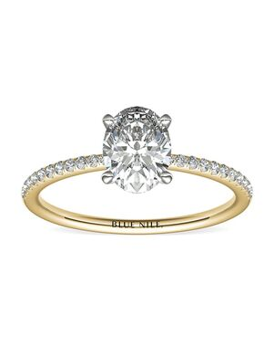 Blue Nile Oval Cut Engagement Ring