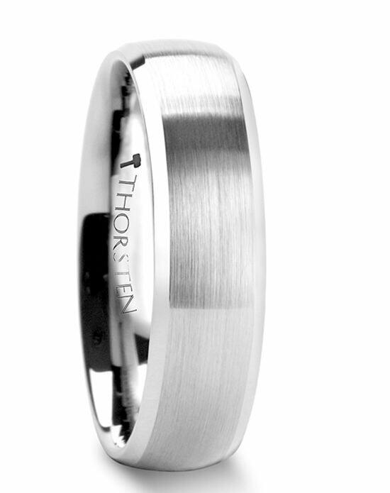 Larson Jewelers POLARIS Domed Brushed Finish Tungsten Ring with Polished Bevels - 6mm & 8mm Wedding Ring photo