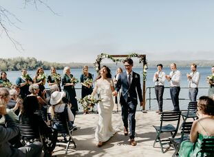 """Lydia Vanderhill and Ben Kelley's wedding venue, Watervale Inn in Michigan, was chosen for the special meaning it holds for the couple. """"We choose to"""
