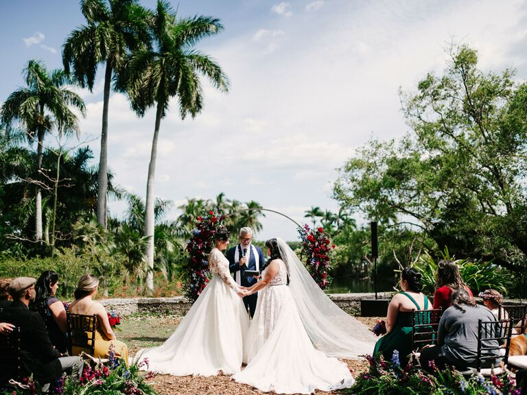 outdoor wedding venues tropical garden in florida