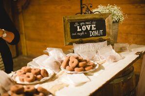 Cider Doughnut Wedding Favors