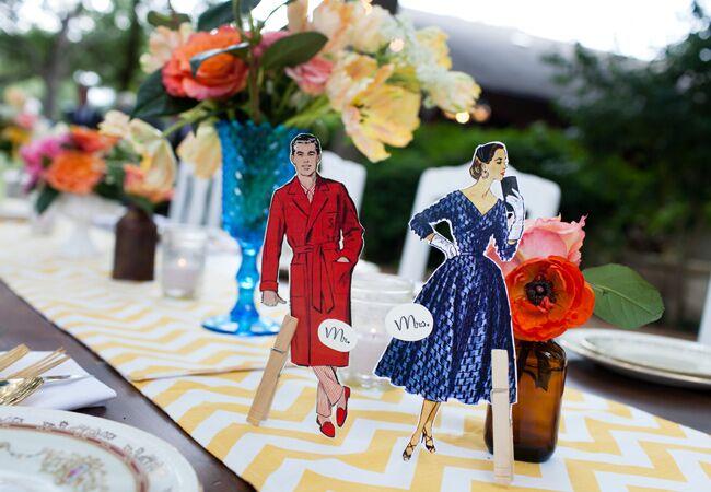 Mid-Century Modern Wedding Ideas  <img class=