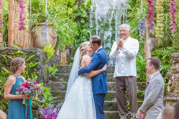 Wedding Ceremony at Haiku Mill in Hawaii