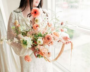 Peach-Hued Bouquet for Wedding at Elysian in Los Angeles