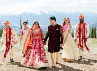"""""""The key was balancing the boldness of Indian style with the rustic simplicity of the mountains,"""" Winnie Agarwal (28 and works at Facebook) says. She"""