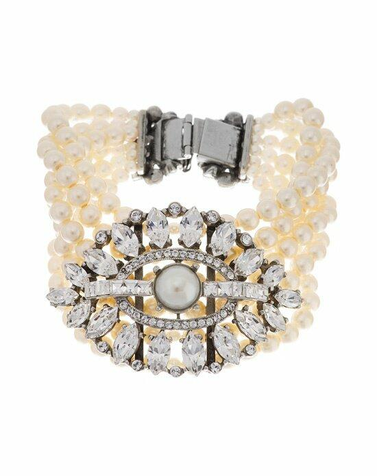 Thomas Laine Ben-Amun Six Row Pearl and Crystal Bracelet Wedding Bracelets photo