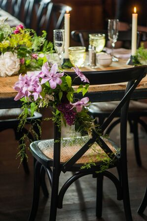 French Country Chairs With Purple Flowers