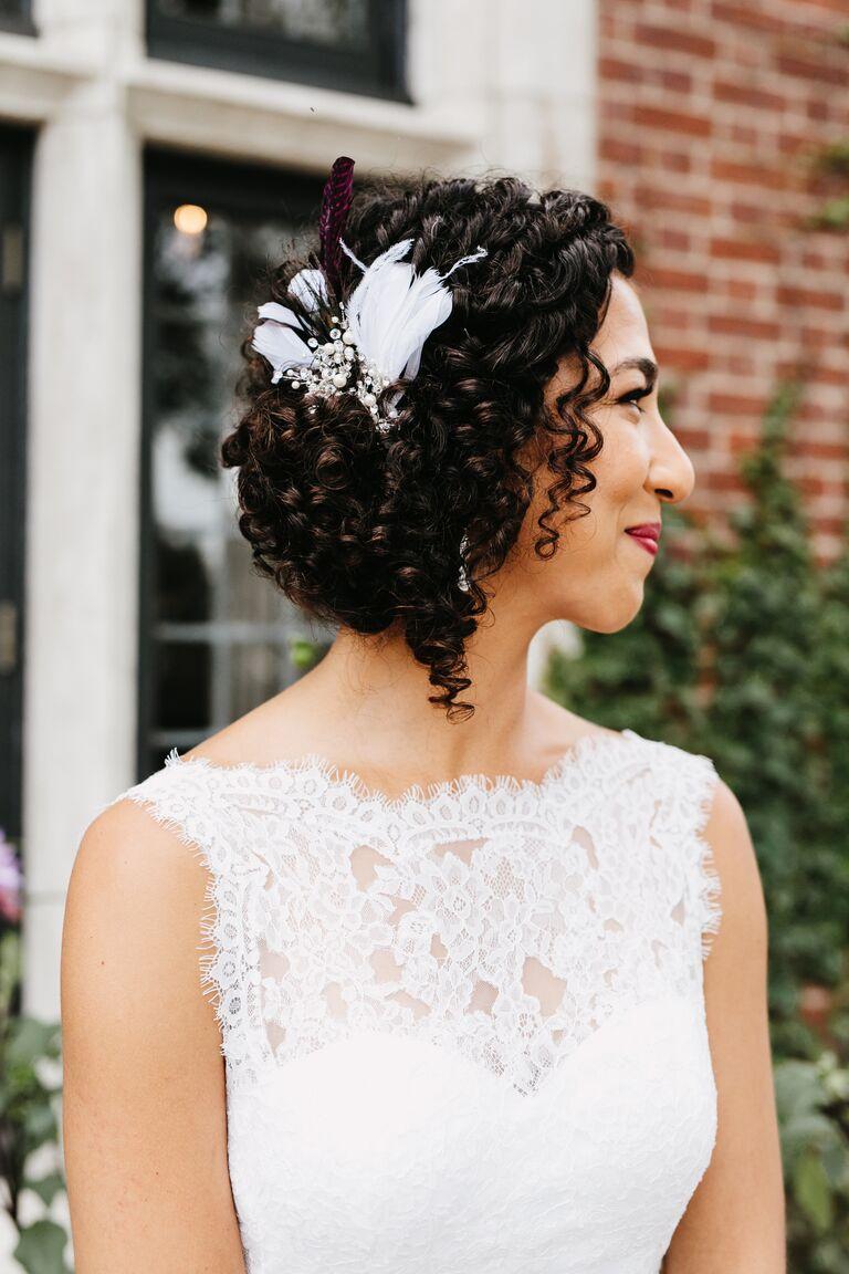 Jewel neckline wedding dress