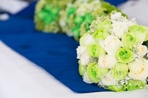 Lime Green and Blue Cancun, Mexico Wedding Palette