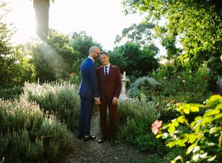 """Tyler and Michael, """"met at a whiskey bar while living in New York, migrated to the City of Angels, reconnected at a farmers market in West Hollywood a"""