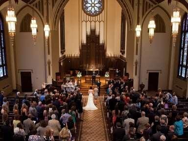 Presbyterian wedding ceremony.