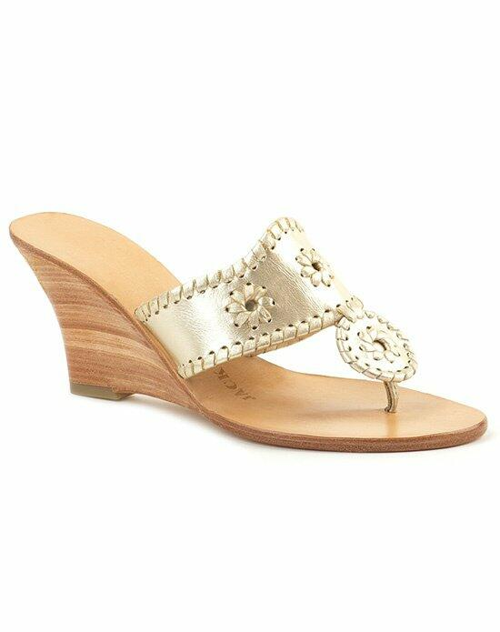 Jack Rogers Hamptons Hi Wedge-Gold Wedding Shoes photo