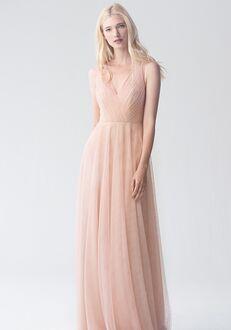 Jenny Yoo Collection (Maids) Emelie {no applique} V-Neck Bridesmaid Dress