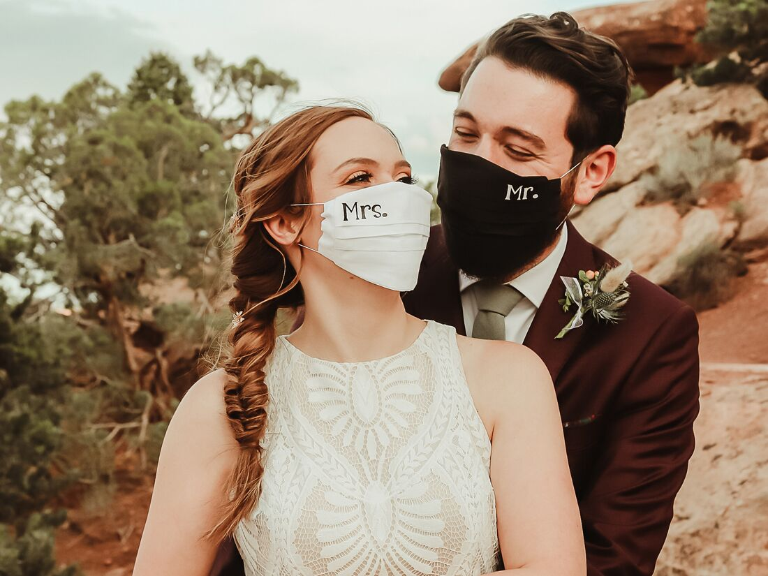 10 Wedding Masks & Face Coverings That Will Look Good in Photos
