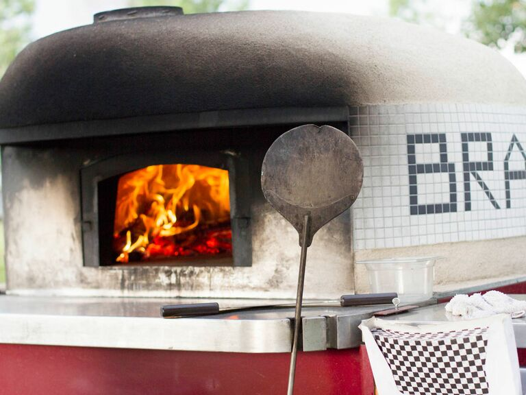 Fresh wood-fired pizzas