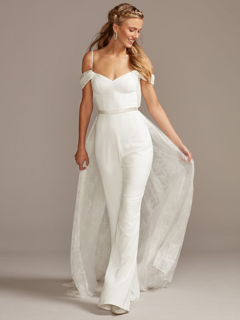 Wedding Jumpsuit with Train