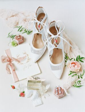 Romantic Shoes for Wedding at Vibiana in Los Angeles