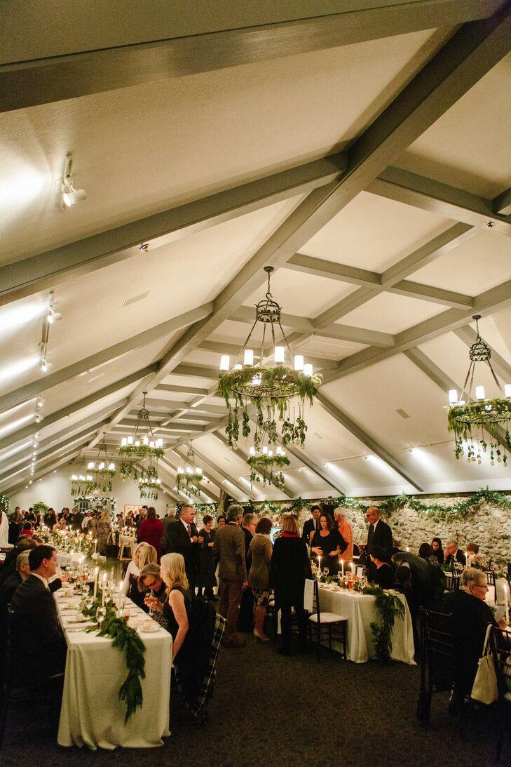 Romantic and Cozy Winter Wedding Reception at Castle Farms in Michigan
