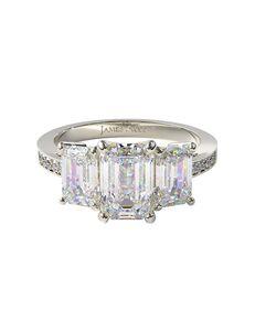James Allen Glamorous Emerald, Radiant Cut Engagement Ring