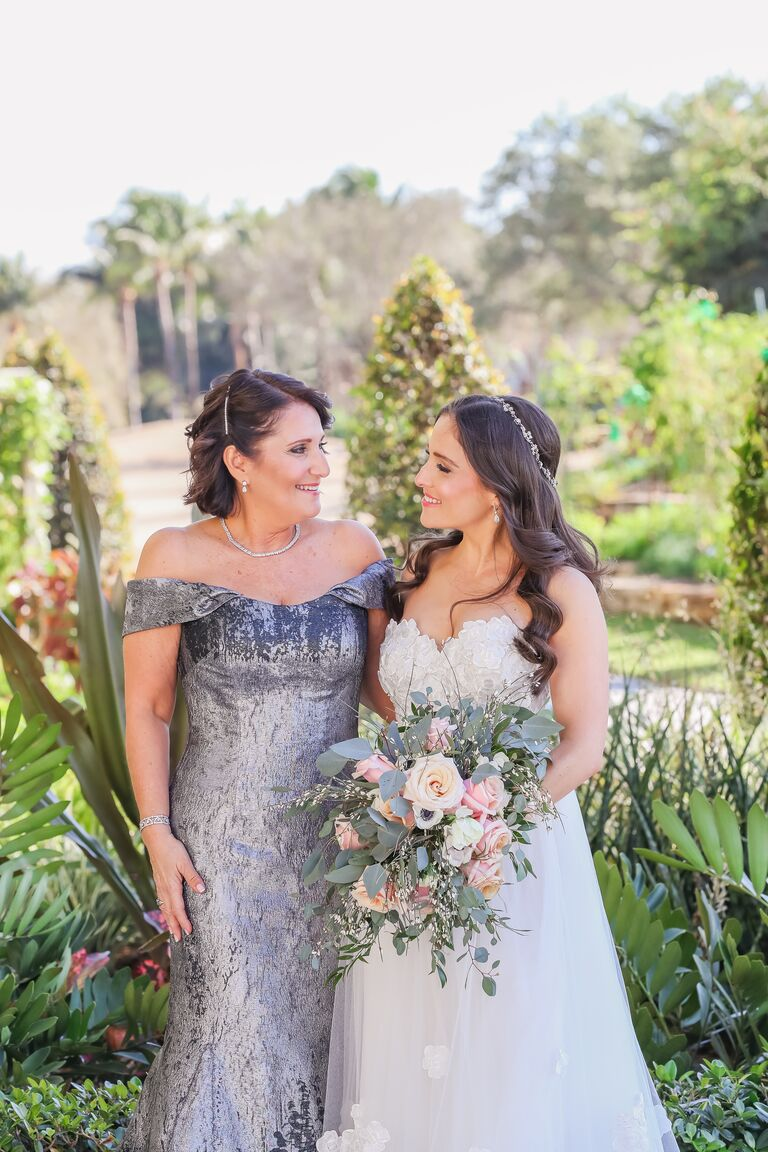 mother of the bride and bride