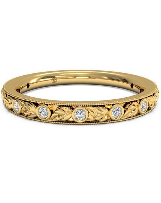 Ritani Women's Hand-Carved Grecian Diamond Wedding Band - in 18kt Yellow Gold - (0.09 CTW) Wedding Ring photo