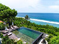 Bali, Indonesia pool over ocean