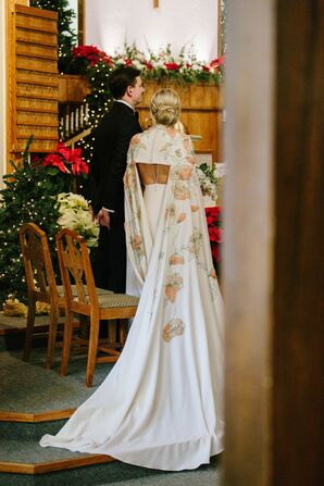 Romantic Winter Wedding With Traditional Swedish Touches and Christmas Decor in Michigan