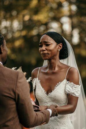 Bride Crying During Wedding Ceremony in Durham, North Carolina