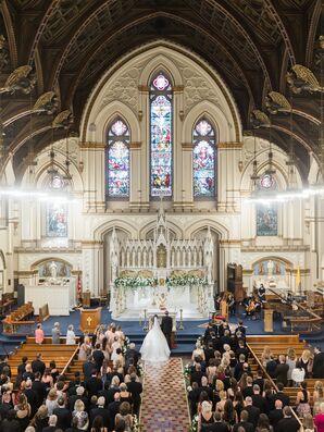 Formal Church Wedding Ceremony in Boston