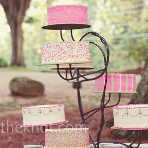 Pink and Green Cakes