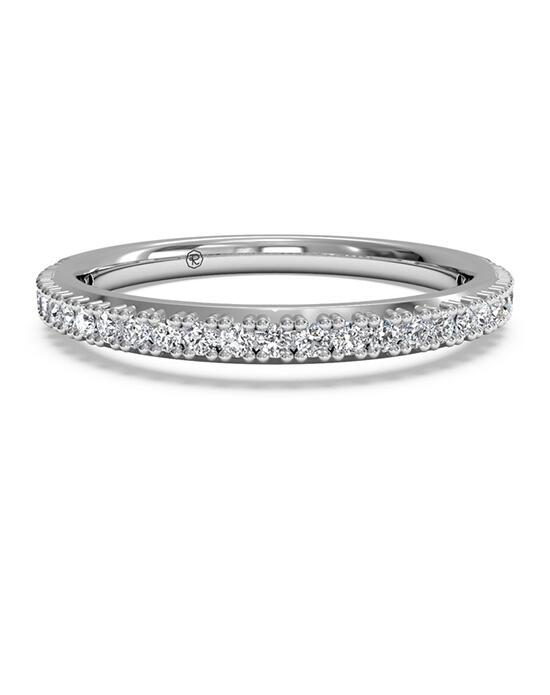 Ritani Women's French-Set Diamond Wedding Band - in 14kt White Gold (0.16 CTW) Wedding Ring photo