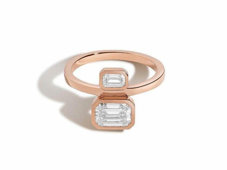 Shahla Karimi two stone engagement ring