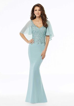 MGNY 72124 Gray,Blue Mother Of The Bride Dress