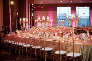 Romantic Candelabra and Pearl Centerpieces