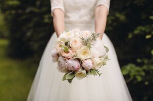Pastel Peony and Rose Bridal Bouquet