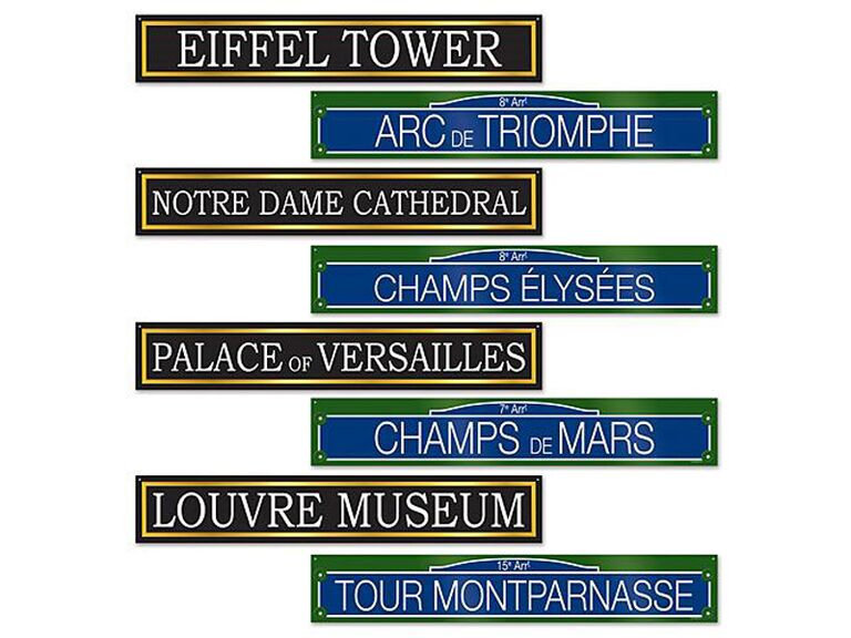 shindigz french street sign cutouts for paris themed bridal shower