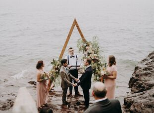 """Brian and Kory opted for a small, personal gathering for their wedding day in order to make room for connections. """"We realized we wanted an intimate c"""