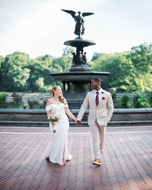 Couple Portraits at Bethesda Fountain in Central Park