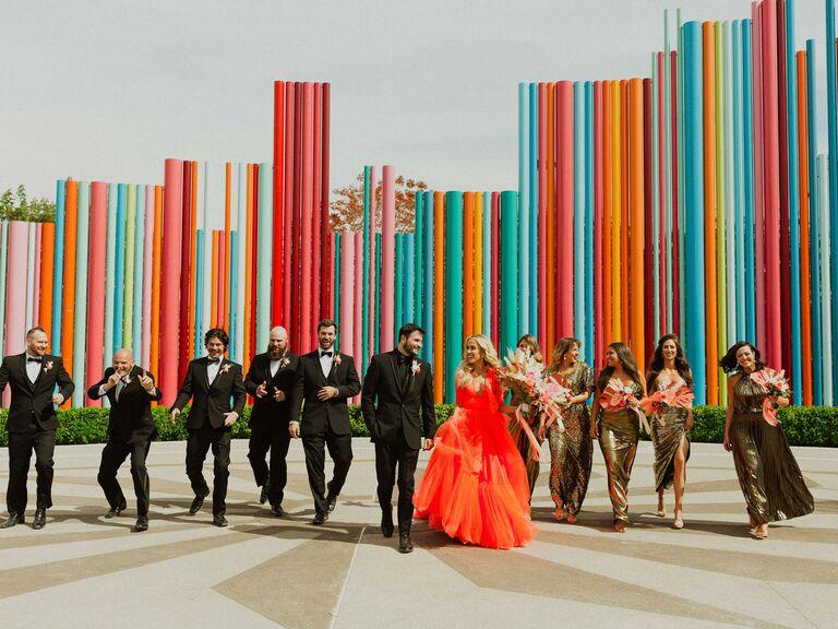 outdoor wedding venue neon museum