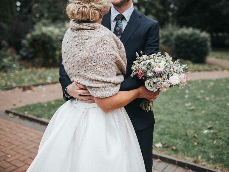 Knit wedding shawl